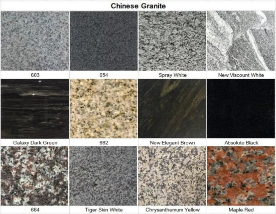 Polished/Flamed Black/Red/White/Blue/Yellow/Green/Brown/G654/G603/G682/G602/Juparana/Bahama/Galaxy/Absolute Granite Tiles for Countertop/Paving/Wall/Flooring pictures & photos