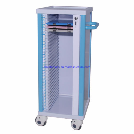 Hospital Single File Cart, 30 Compartments, No Drawers