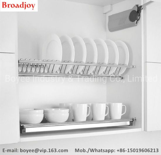 Plate Drying Racks Drainer Stand Kitchen Cabinet Stainless Steel Storage Shelf Dish Rack
