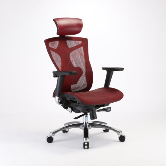 SGS BIFMA Swivel Revolving Mesh Boss Executive Aluminum Chair pictures & photos