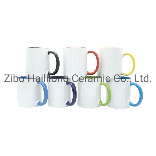 11oz Color Rim and Handle Sublimation Mugs