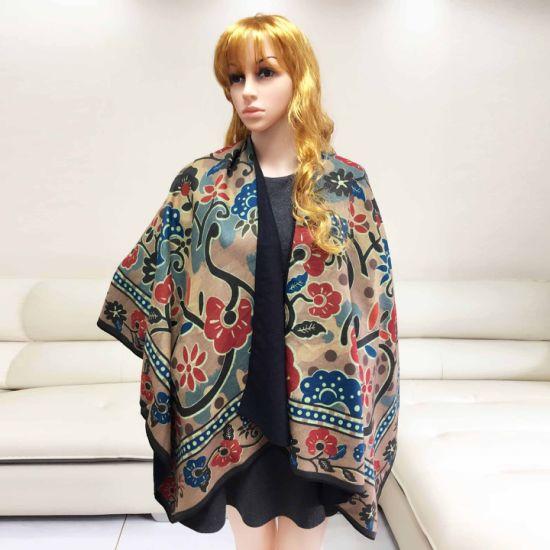 Fashion Rainbow Women Winter Shawl Jacquard Scarf Shawl