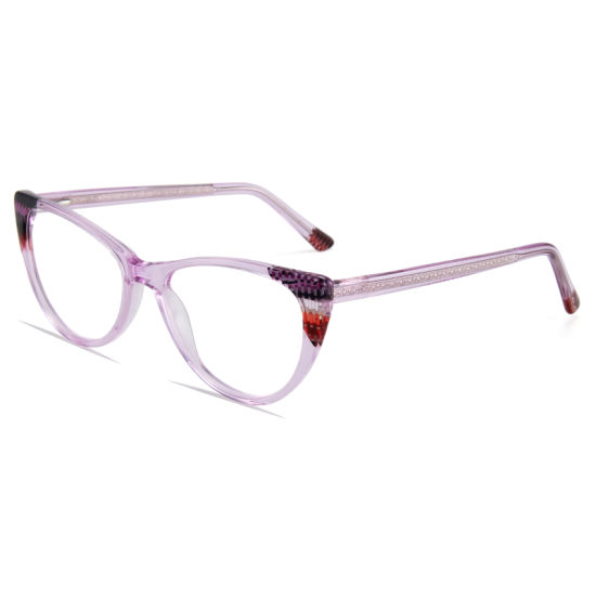 Acetate Ultralight Female Transparent Frames for Women Men Vintage Optical Eyewear