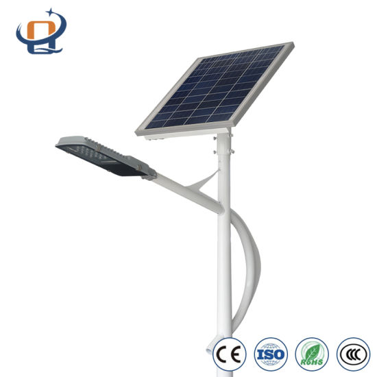 Factory Direct Wholesale Solar Street Light IP65 with Lithium Battery Garden Plaza