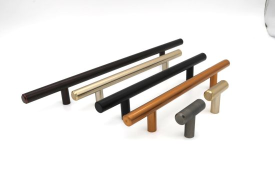 Stainless Steel Pull Bar Handle Various Colors Long T Bar Handle for Kitechen Cabinet Drawer Pulls