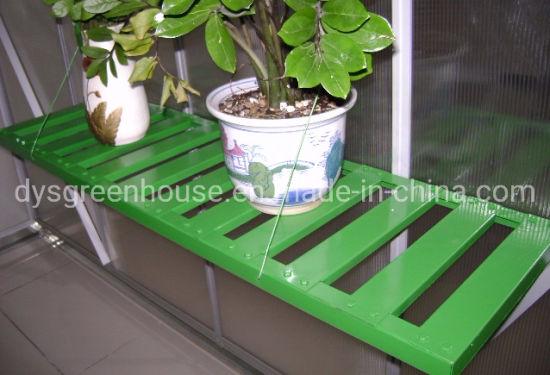 Steel Work Bench Potting Staging Plants Greenhouse 2-Shelves Storage Workspace