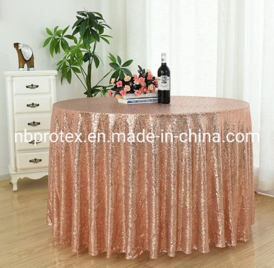 New Sequin Embroidery Table Cloth for Wedding Banquet pictures & photos