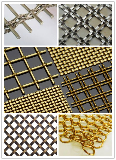 Architectural Decorative Mesh Screens Stainless Steel/Aluminium/Copper pictures & photos