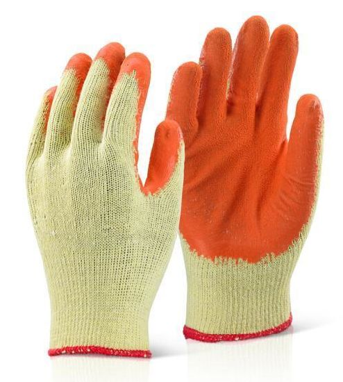 Latex 10g Polyester Liner Industrial Chemical Work Glove with Ce Certificate