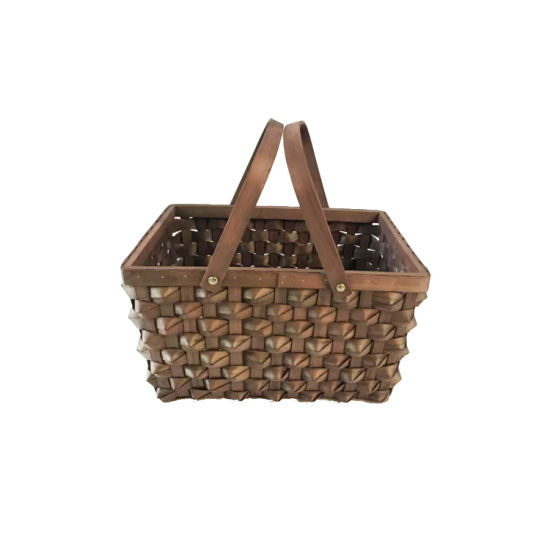 Renel Pure Handmade Special Design Home Fruit Vegetable Storage Basket with Handle Countryside Farm pictures & photos