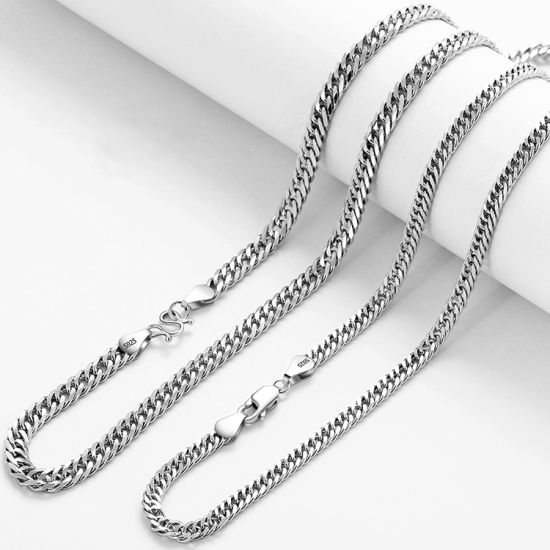 Hip Hop Custom Jewelry Fashion Jewellery 925 Sterling Silver 9K 14K 18K Gold Curb Chain Necklace