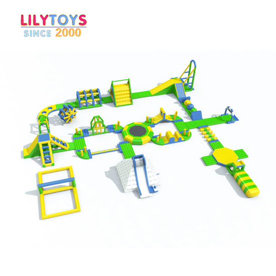 Commercial Floating Inflatable Water Park with Slide on Sale
