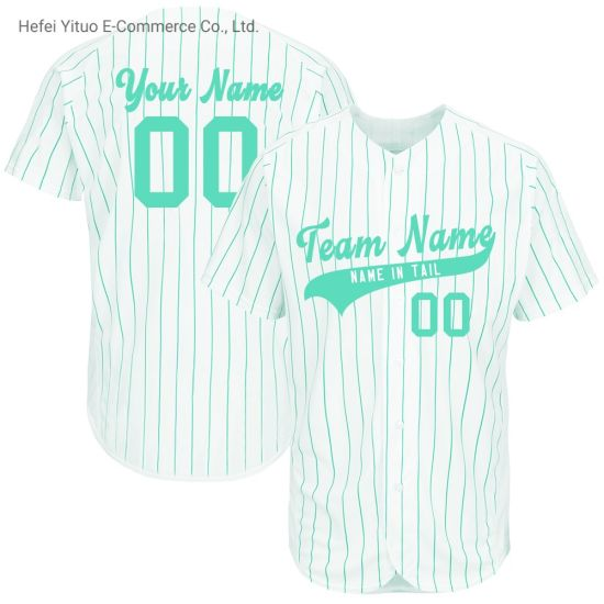 Classical Stitching Design Polyester Loose Fit White Baseball Jerseys Shirts