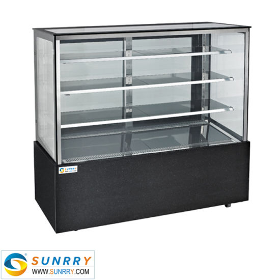 Best Price Bakery Chiller Glass Square Cake Display Fridge Counter
