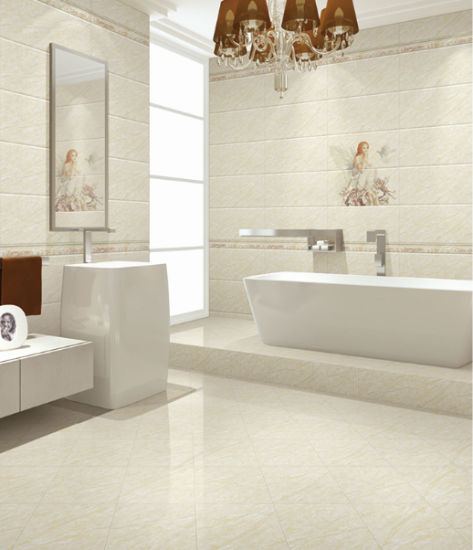 Glossy Glazed Surface White Marble Look Ceramic Tile For Wall And Floor