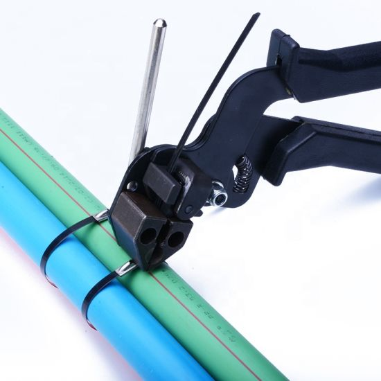 7.9*300mm Self Locking Reusable PVC Coated Cable Ties