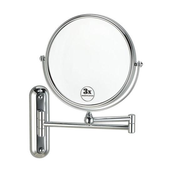 China Bathroom Wall Mounted Swing Arm 3x Magnifying Makeup Mirror