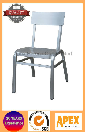 china stackable aluminum chair restaurant chair cafe furniture