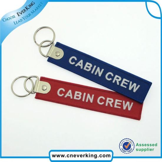 Wholesale Custom Embroidery Remove Before Flight Keychains pictures & photos