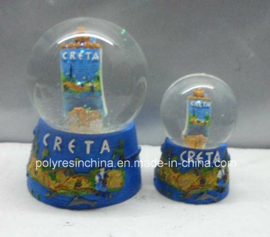 china resin creta snow globe crafts with boat inside china snow