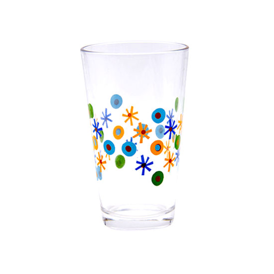 Large Size Acrylic Glass Water Cup with Flower Decal pictures & photos