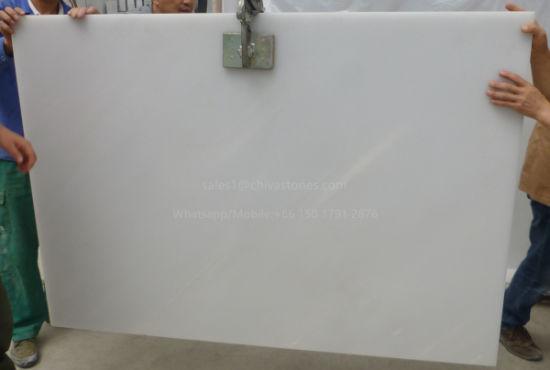 Popular White Marble Polished/Honed Slab For Flooring Tile/Paving Tile/ Bathroom