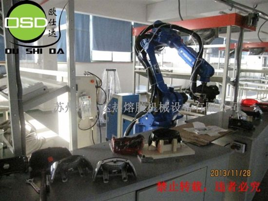 Robot Arm Automatic Hot Melt Gluing Machine pictures & photos