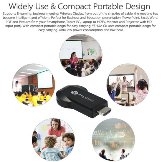 Airplay/Miracast/TV/Dlna 1080P Anycast M2 Plus WiFi Display Dongle Receiver pictures & photos