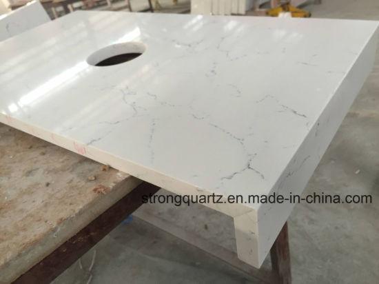 Polished Quartz Stone Factory Cut To Size Quartz Table Tops