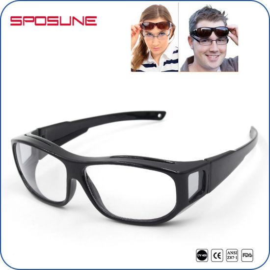 872b988ee50 Wraparound Transparent Lens Black Frame Sport Sunglasses Mens Womens  Sunglasses pictures   photos