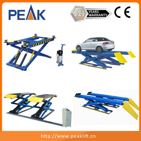 China Hydraulic Cylinder Portable Car Lift for Home Garage