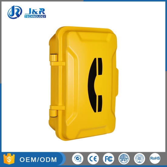 Hands Free Weatherproof Telephone with Flashing Lamp and Horn for Tunnels, Mining, Industries pictures & photos