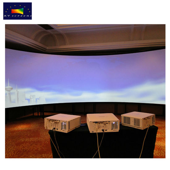china xy screens chk80b multi channel large format curved projection