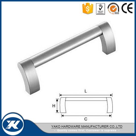 Modern Zinc Alloy Double Sided Commercial Door Pull Handle