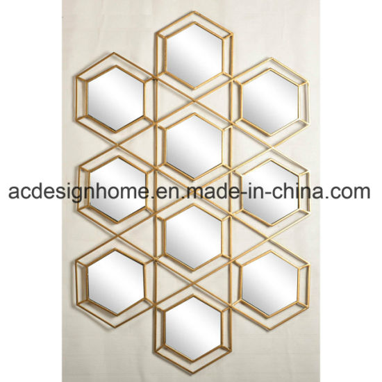 China Honeycomb Shaped Modern Luxury Decorative Wall Mirror for Home ...
