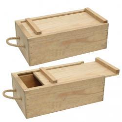 Natural Color Pine Sliding Lid Wooden Box for Gift Packaging pictures & photos