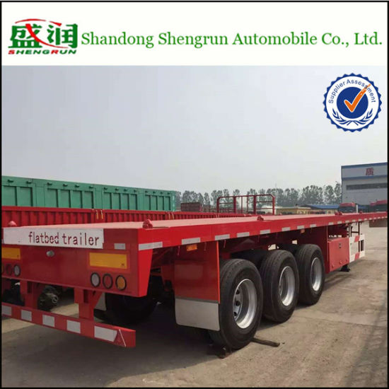 Shengrun 40FT Flatbed Container Cargo Semi Trailer pictures & photos