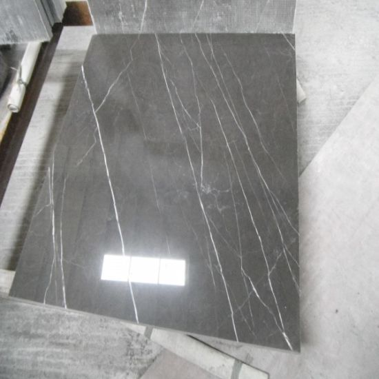 China Cheap Grey Marble Flooring Tiles With White Veins China