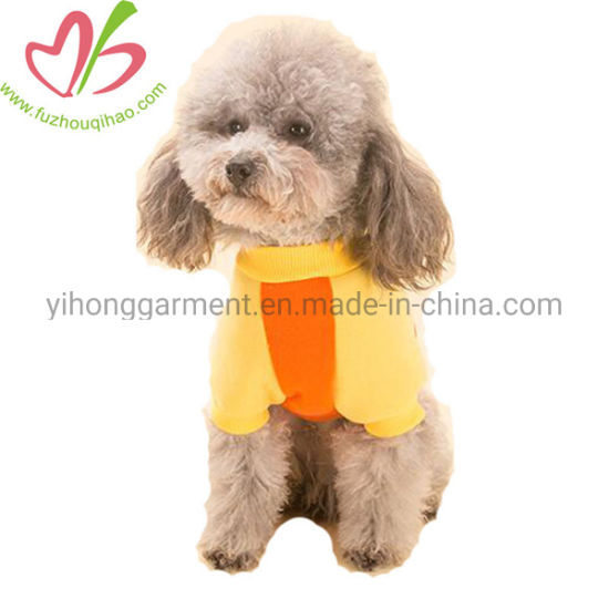 Orange Jersey Cotton Custom Small Pet Clothes for Dogs