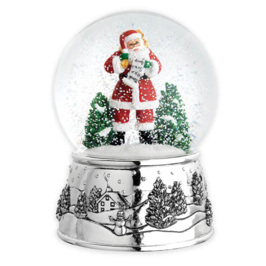 Wholesale High Quality Decorative Custom Made Unique Cheap Christmas Tree Snowflakes Resin Glass Water Snow Globes