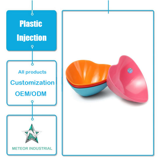 Customized Plastic Injection Moulding Products Tableware Fruit Salad Plastic Bowl