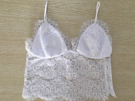Women Fashion Clothes Sexy Lace Lady Vest Spaghetti Strap Underwear pictures & photos