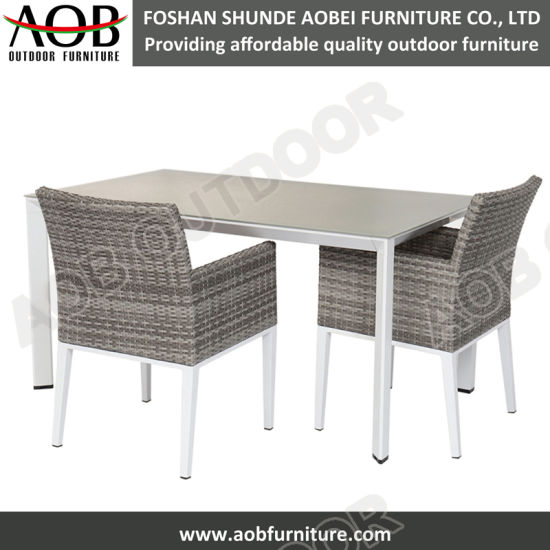 China Modern Design Outdoor Rattan Furniture Garden Dining Set