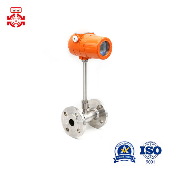 Flanged Connection Thermal Gas Mass Flow Meter with 24VDC
