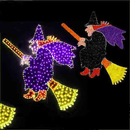 Witch Broom Witch for Halloween Decoration Flying