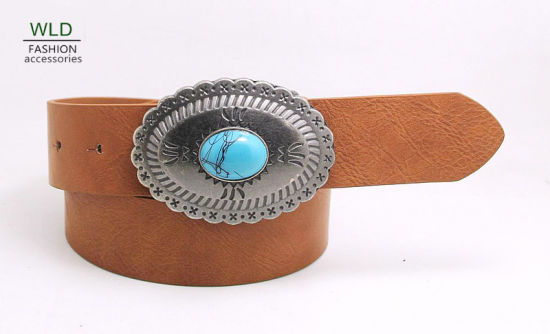 Lady's Beautiful Belt with Agate Decorated Ky6234