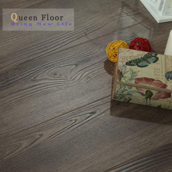 China Smokey Grey Oak 8mm 10mm 12mm Waterproof Solid Wood Texture Laminate Flooring China Flooring Laminate Flooring