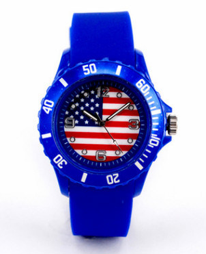 Flag World-Cup Watch for Promotion Silicon Material Watch (DC-183) pictures & photos