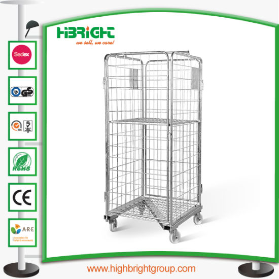 Hand Push Logistic Trolley Carts Hand Warehouse Carts pictures & photos