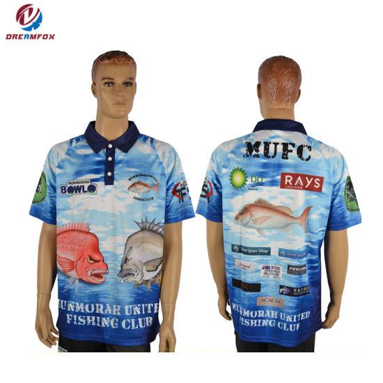 China Breathable Sublimation Long Sleeve Fishing Shirts